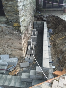 Retaining Wall Digger Groundworks Liskeard
