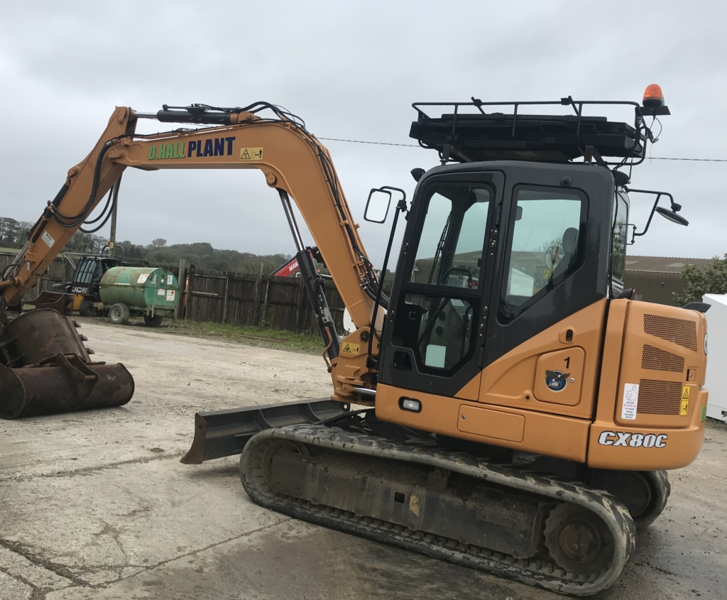 Case CX80C Digger Hire Liskeard Self Drive