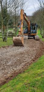 Digger, excavator, plant hire, Liskeard